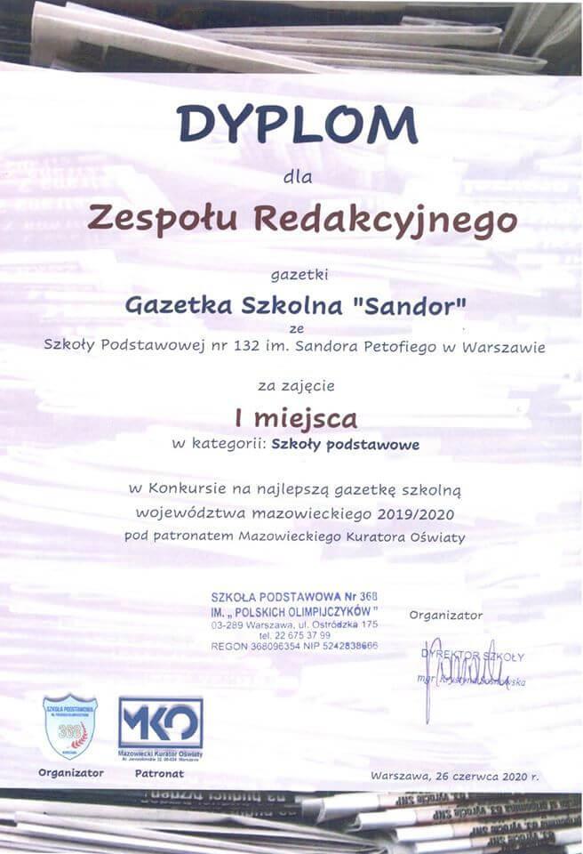 Dyplom-SP-132-gazetka-Sandor