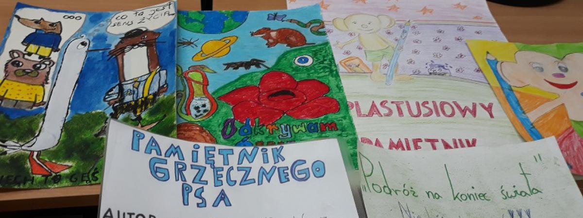 """Laureaci w konkursie """"Plakat reklamujący ulubioną książkę"""""""