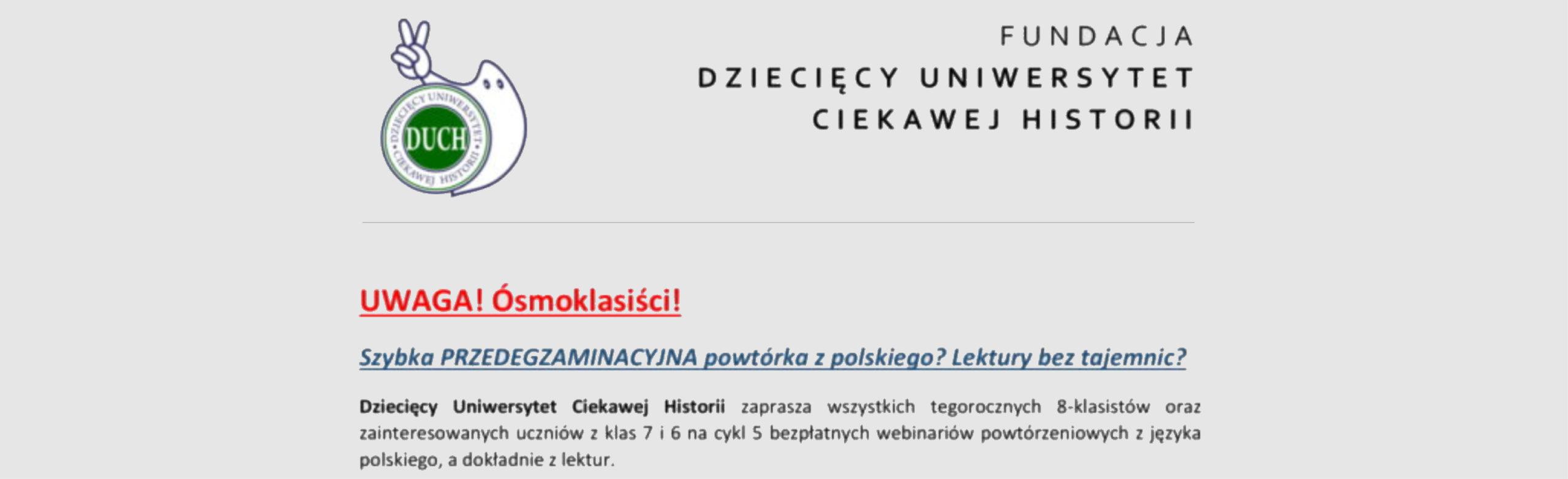 Przedegzaminacyjna powtórka z polskiego