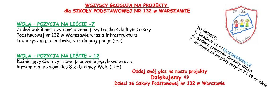 Warszawski Budżet Obywatelski – GŁOSUJ na projekty naszej szkoły